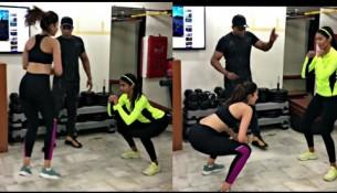 Pooja Hegde Rakul Preet Singh morning workout in gym