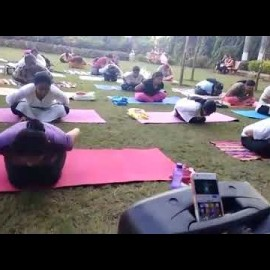 TUKARAM MORNING DAILY EXERCISE FREE AEROBICS FOR EVERYONE BY OUR TEAM OM YOG PITH TUKARAM GARDEN FRE
