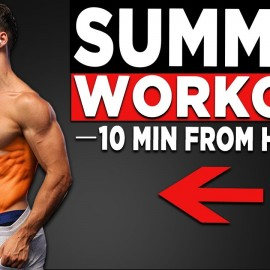 10 MIN SUMMER WORKOUT (NO EQUIPMENT BODYWEIGHT WORKOUT!