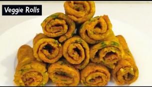 Healthy Veggie Rolls | wheat flour & veggie pancake rolls | healthy breakfast recipe