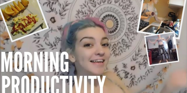 My Productive Morning Routine | Be Productive with Me Cleaning, Workout, Breakfast, & More.