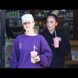 Hailey Baldwin Gets An IV Drip After Her Morning Workout