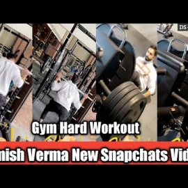 Parmish Verma Morning Gym Workout || Latest Snapchat Video || Desi Gabru