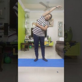 Morning exercise by Bhavana…