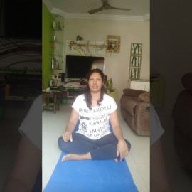 Morning exercise with Bhavana