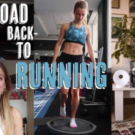 GETTING BACK TO RUNNING | Morning routine | Physio exercises